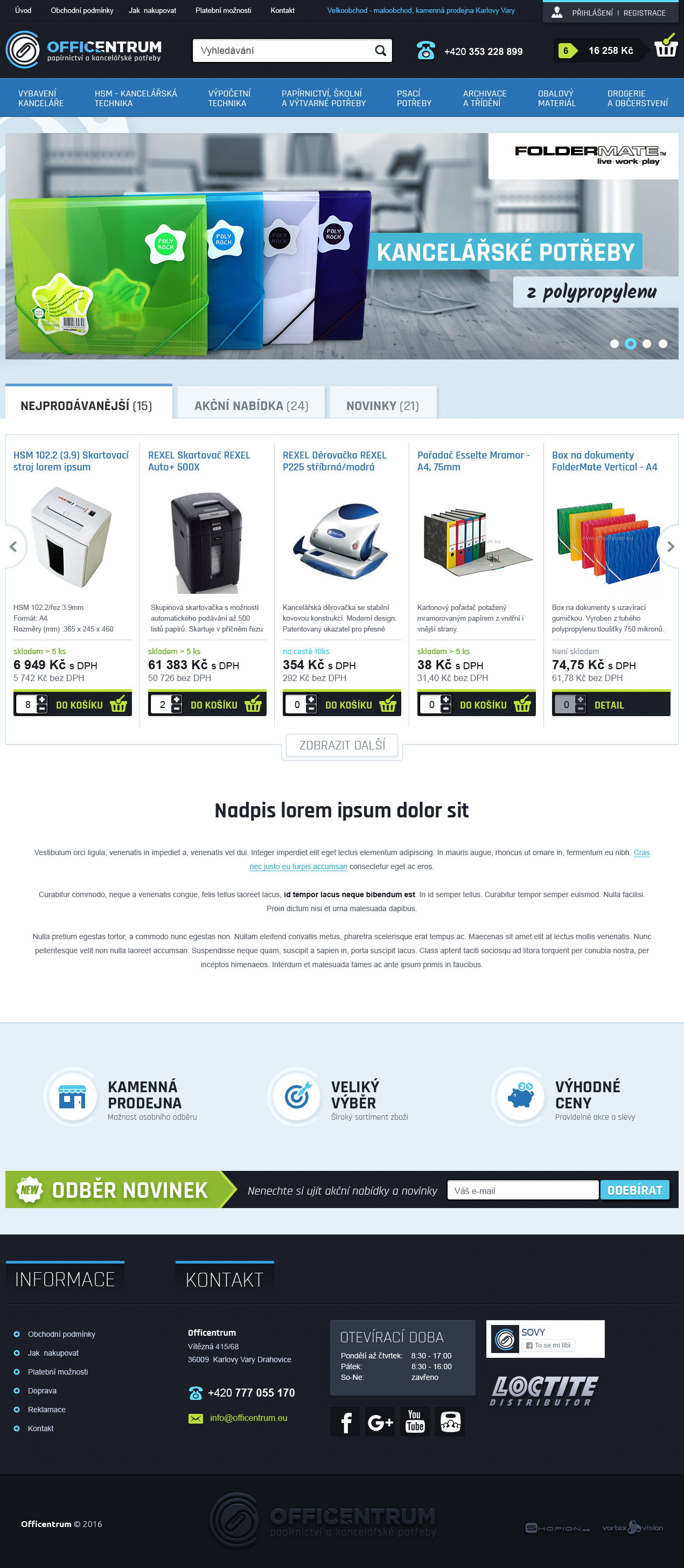 Internetový obchod .officentrum.eu