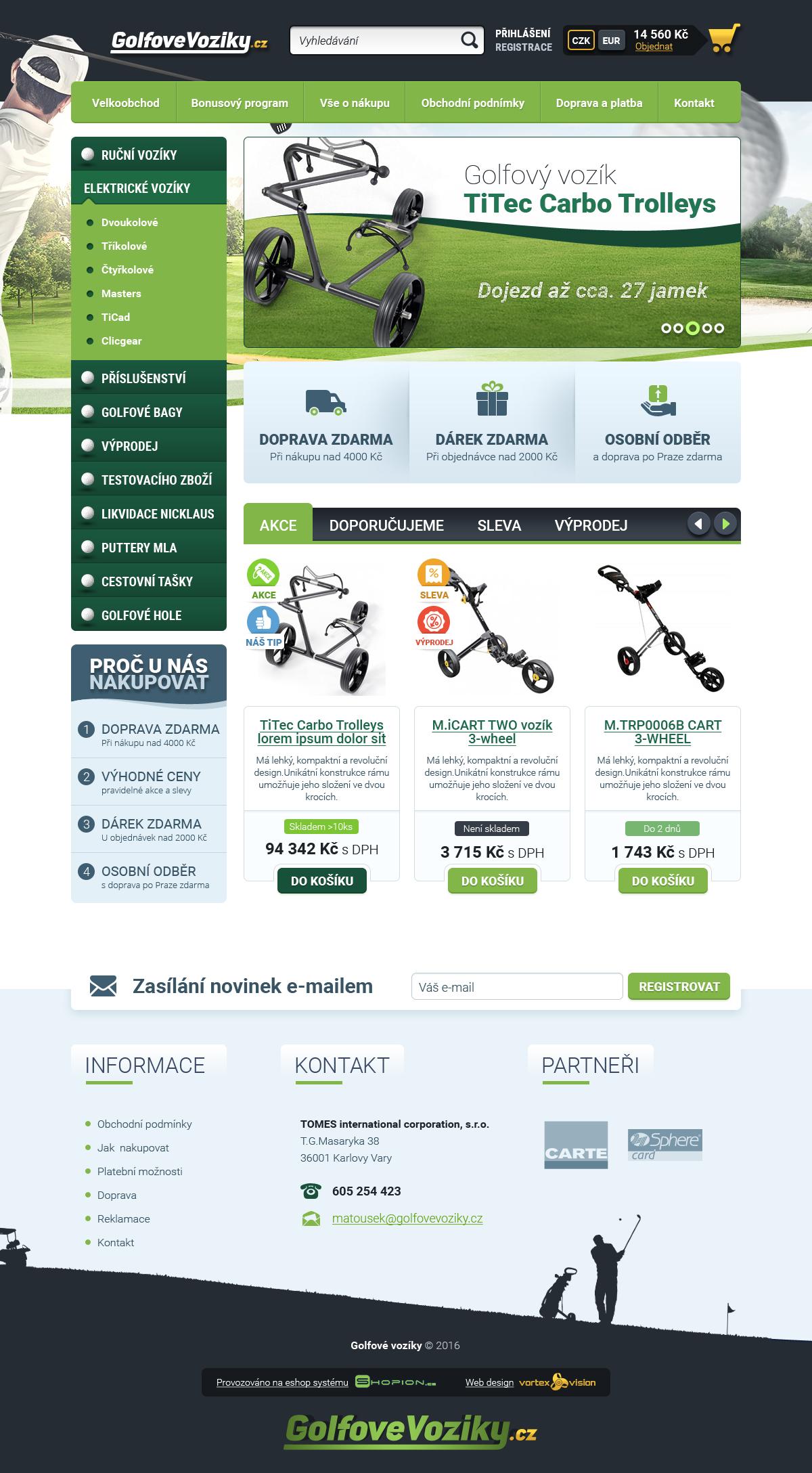 Internetový obchod .golfovevoziky.cz