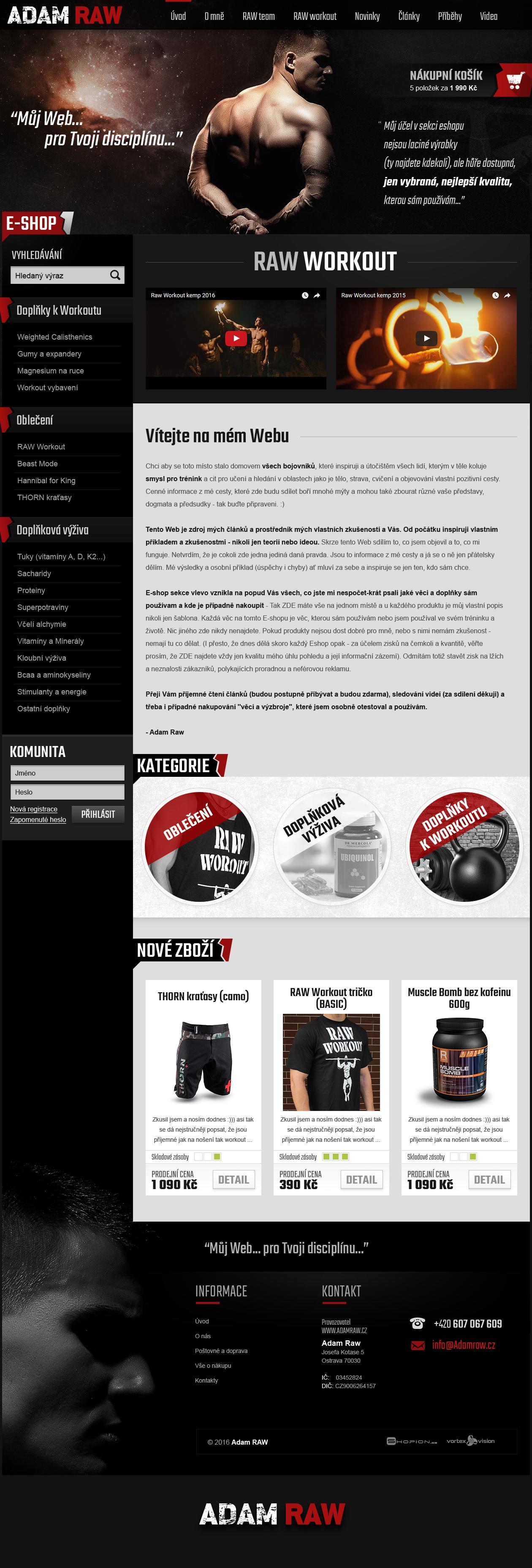 Internetový obchod .adamraw.cz