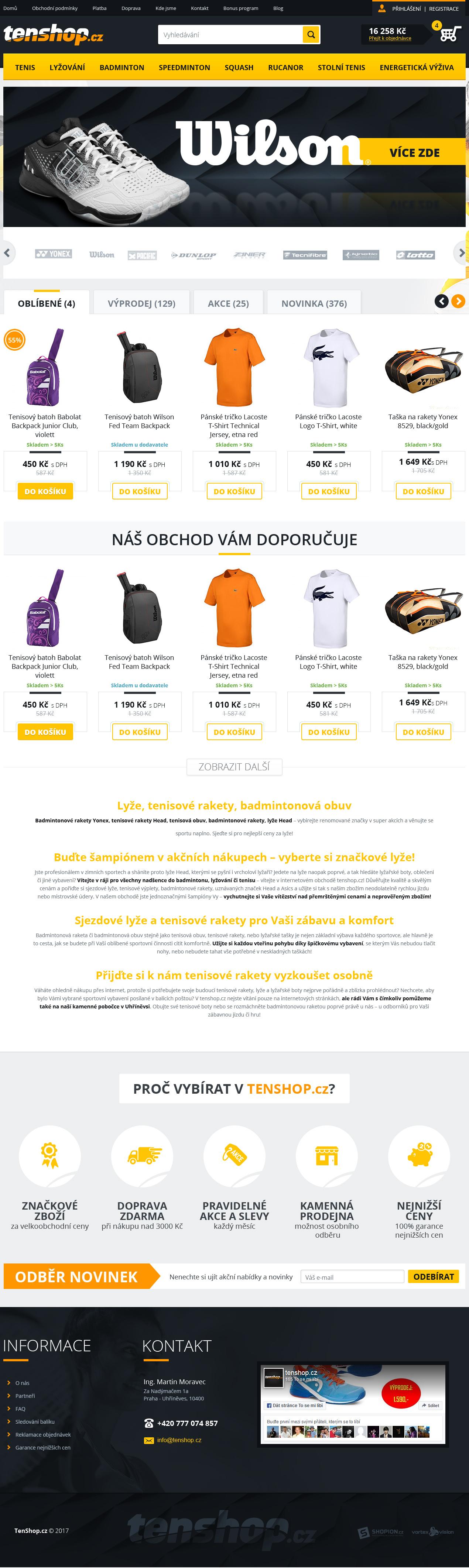 Internetový obchod .tenshop.cz