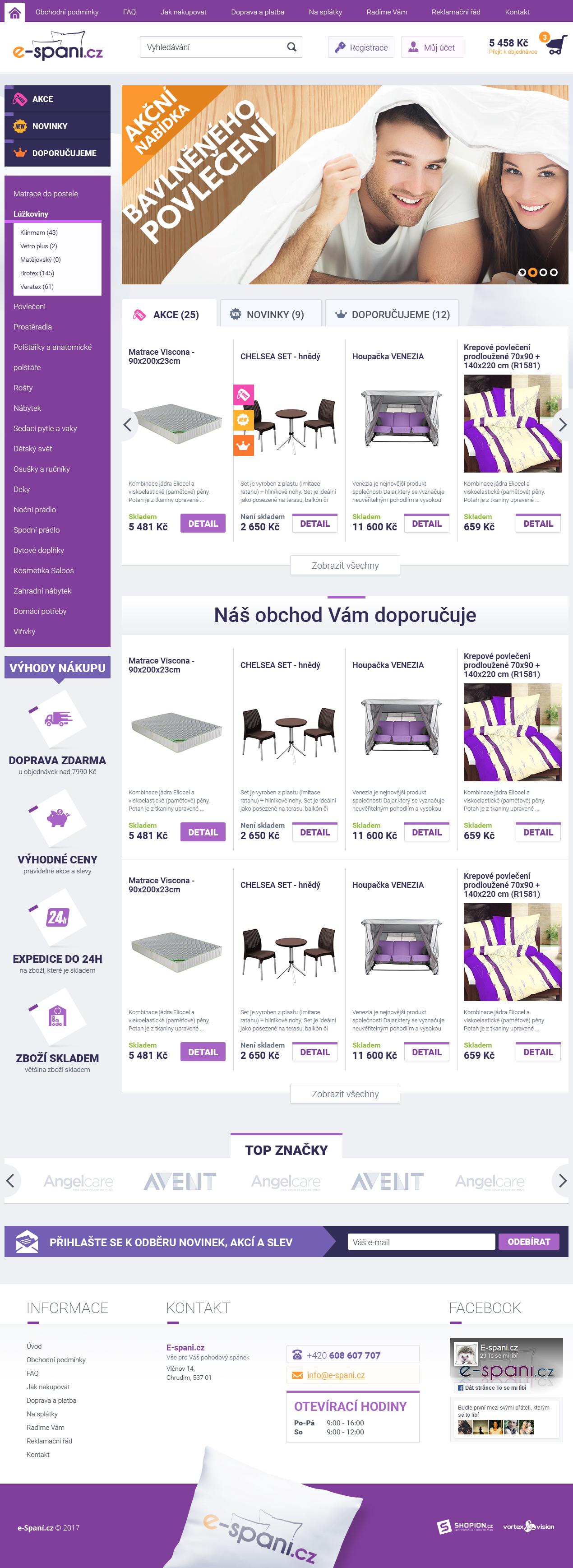 Internetový obchod .e-spani.cz