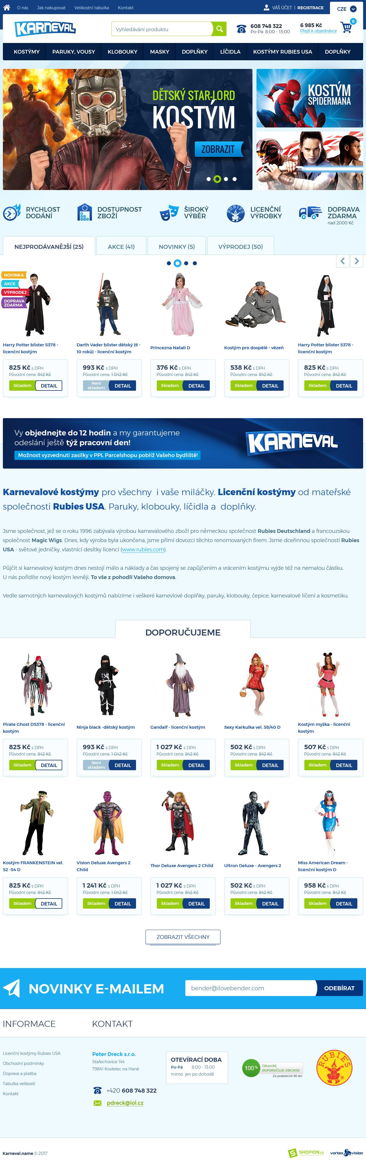 Internetový obchod .karnevaly.cz
