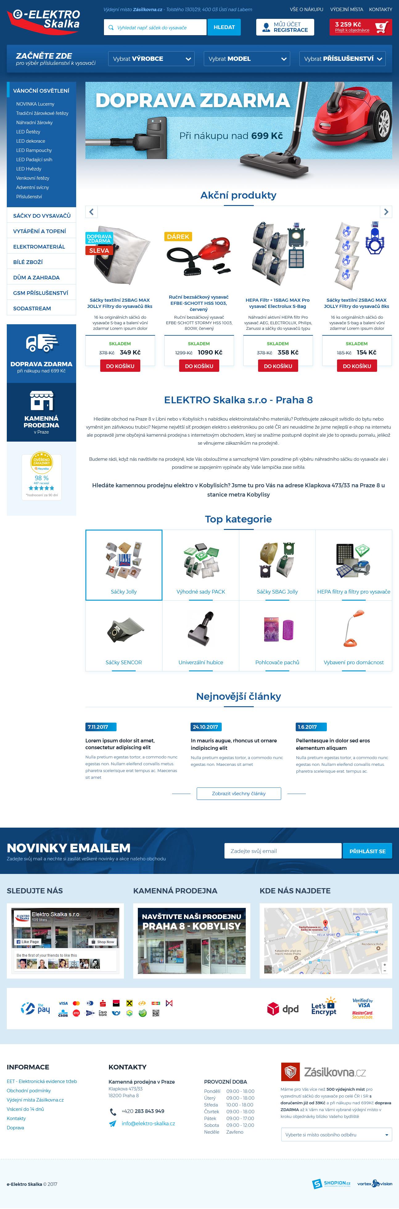 Internetový obchod .e-elektro.cz