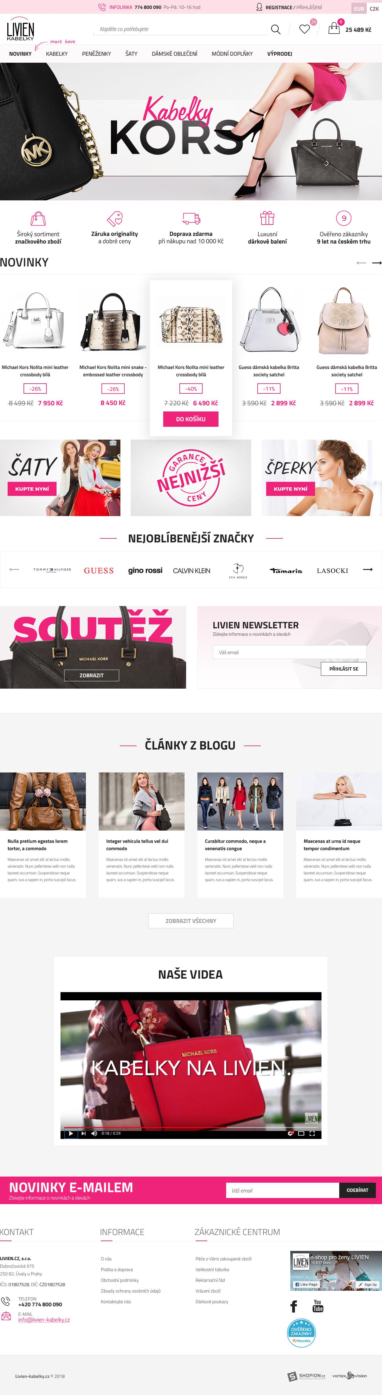 Internetový obchod .livien.cz